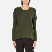 French Connection Women's Viva Vhari Long Sleeve Roundneck Jumper - Dark Olive Night - S