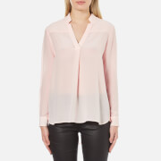 French Connection Women's Super Silk Shirt - Capri Bush - M