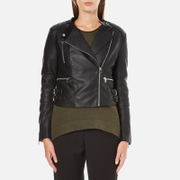 French Connection Women's Decade Biker Jacket - Black - UK 10