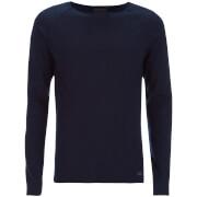 Produkt Mens Twist Knit Crew Neck Jumper  Dress Blue  S