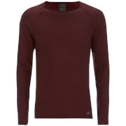 Produkt Mens Twist Knit Crew Neck Jumper  Syrah  S