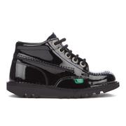 Kickers Infant Kick Hi Patent Boots  Black  UK 6 InfantEU 23