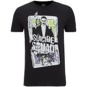 DC Comics Men's Suicide Squad Harley and Joker Cards T-Shirt - Black