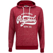 Jack & Jones Mens Originals Break Hoody  Syrah Melange  XXL
