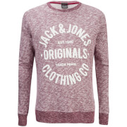 Jack & Jones Mens Originals Clemens Crew Neck Sweatshirt  Syrah Melange  XL