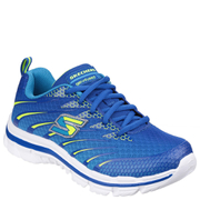 Skechers Kids' Nitrate Trainers - Blue/Yellow