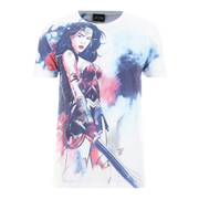 T-Shirt Homme DC Comics Wonder Woman Esquisse - Blanc