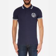 Versace Jeans Men's Chest Logo Short Sleeve Polo Shirt - Blue