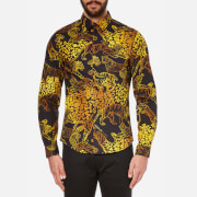 Versace Jeans Men's All Over Print Long Sleeve Shirt - Nero