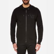 Versace Jeans Men's Zipped VJ Logo Hoody - Black