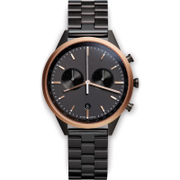Uniform Wares Mens C41 Pvd Black Linked Bracelet Wristwatch  Black