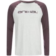 Animal Mens Action Raglan Long Sleeve Top  Light Grey Marl  L