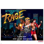 Affiche pixelisée Streets of Rage - 36cm x 28cm