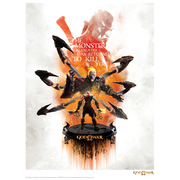 God Of War 'Monster' Art Print - 14 x 11
