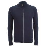Threadbare Men's Elmer Full Zip Neck Jumper - Rich Navy