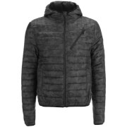 Threadbare Men's Parrot Camo Detail Puffer Jacket - Black