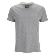 T -Shirt V Threadbare pour Homme Charlie -Gris Chiné