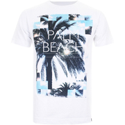 Cotton Soul Men's Palm Beach T-Shirt - White