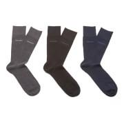 BOSS Hugo Boss Men's 3 Pack Socks - Black/Grey/Navy