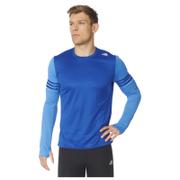 adidas Men's Response Long Sleeve Running T-Shirt - Blue - XL