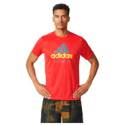 adidas Men's Performance Essentials Running T-Shirt - Red - L