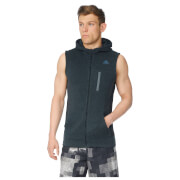 adidas Mens Ultimate Full Zip Running Vest  Black  S