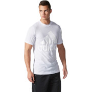 adidas Men's Basic Logo Training T-Shirt - White - L