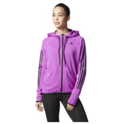adidas Women's Full Zip Training Gym Hoody - Purple