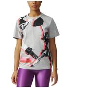 adidas Women's Stella Sport Cheerleader Training T-Shirt - Grey