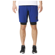 adidas Men's A2G Two-in-One Training Shorts - Blue - M