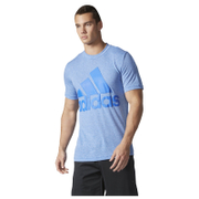 adidas Men's Basic Logo Training T-Shirt - Blue - L