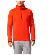 adidas Men's Climaheat Half Zip Training Hoody - Orange - L