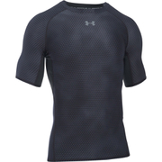 Under Armour Men's HeatGear Armour Printed Short Sleeve Compression T-Shirt - Black/Steel