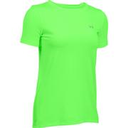 Under Armour Women's HeatGear Armour Short Sleeve T-Shirt - Lime Light - M - Yellow/Green