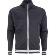 Brave Soul Men's Vintage Zip Through Tricot Jacket - Navy