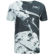 T-Shirt Star Wars Space Battle - Noir