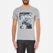 BOSS Orange Men's Theon Printed Crew Neck T-Shirt - Dark Grey