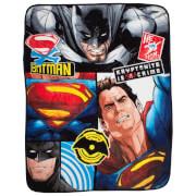 Batman v Superman Clash Coral Fleece Blanket - 120 x 150cm