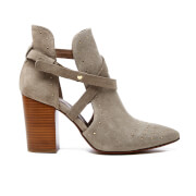 H Shoes by Hudson Womens Jura Suede Studded Heeled Ankle Boots  Taupe  UK 6