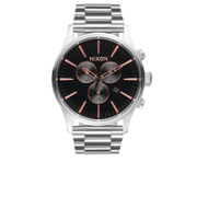 Nixon The Sentry Chrono Watch - Grey/Rose Gold - Salescache