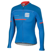 Sportful Gruppetto Thermal Long Sleeve Jersey  Blue  L