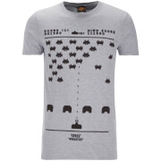 Atari Mens Space Invaders Gaming T-Shirt - Grijs