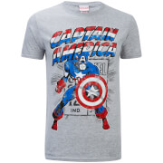 Marvel Captain America Retro Heren T-Shirt - Lichtgrijs