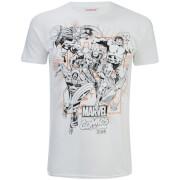 Marvel Men's Band of Heroes T-Shirt - White
