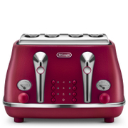 De'Longhi Elements Four Slice Toaster - Red