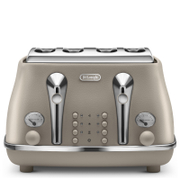 De'Longhi Elements Four Slice Toaster - Beige