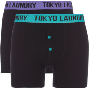 Tokyo Laundry Men's Dunford 2 Pack Boxers - Black/Purple/Green