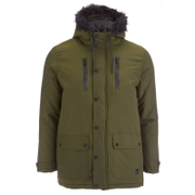 Tokyo Laundry Men's Carmine Hooded Parka Jacket - Khaki