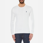 Polo Ralph Lauren Mens Crew Neck Pima Cotton Knitted Jumper  White  M