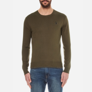 Polo Ralph Lauren Mens Crew Neck Pima Cotton Knitted Jumper  New Olive  XXL